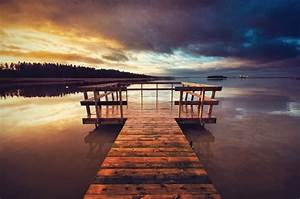 lake, , pier, , clouds, , sunset, wallpapers, hd, , , , desktop, and