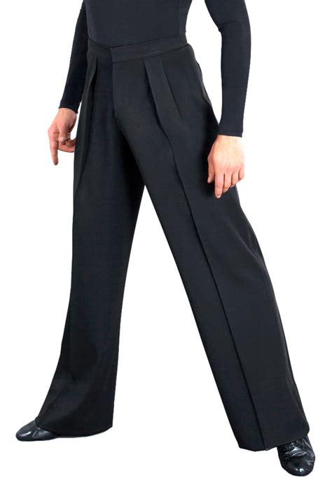 dsi mens box pleat gabardine latin trousers  wide