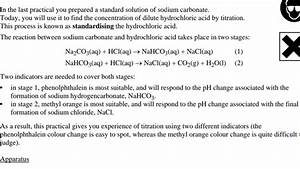 Can Methyl Red Be Used For Hcl Titration With Na2co3