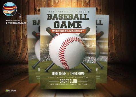 baseball flyers sample templates