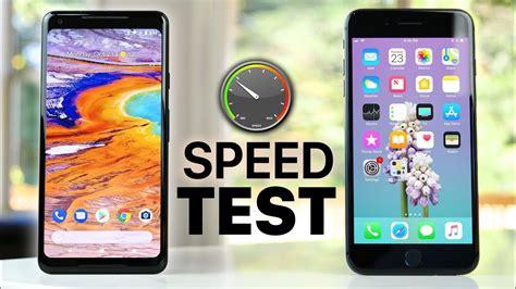 pixel 2 xl vs iphone 8 plus speed test