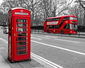London Icons Print Red Phone Booth London Phone Booth