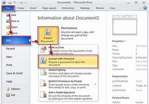 How to password protect a document in office 2010 for Word documents protected