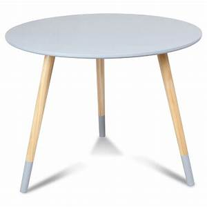 Table Basse Scandinave Bleu : table basse scandinave bleu gris br dvik diam tre 60 cm demeure et jardin ~ Teatrodelosmanantiales.com Idées de Décoration