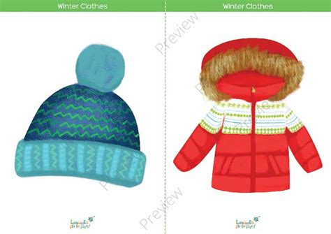 Winter Clothes Flashcards & Memory Game