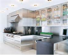 COCOCOZY THIS OR THAT STAINLESS STEEL KITCHEN CABINETS Contemporary Stainless Steel Kitchen Cabinets Elektra Plain Steel Stainless Steel Grades Copper Zinc Mild Steel Steel Services Stainless Steel Kitchen Cabinet With Low Style Base Kitchen Cabinet