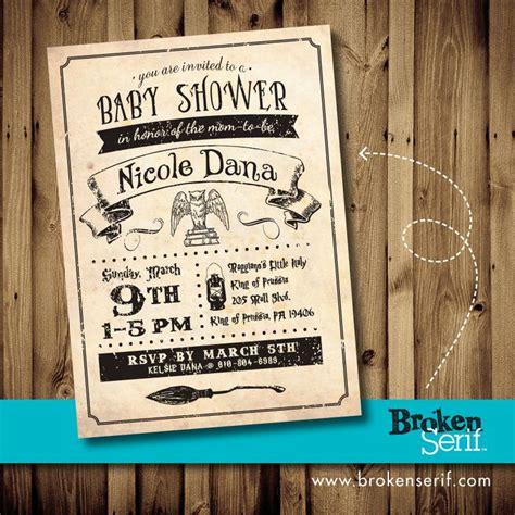 harry potter baby shower invitations