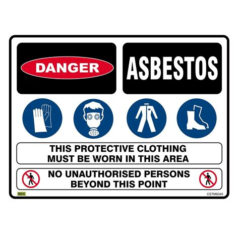 multi condition asbestos sign  warning signage