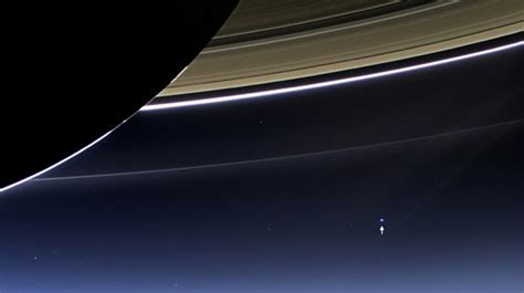 Earth Seen From Saturn Million Miles Away