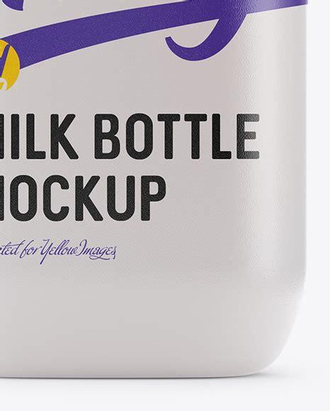 Unique and polished packaging mockups. Frosted Plastic Milk Bottle Mockup in Bottle Mockups on ...