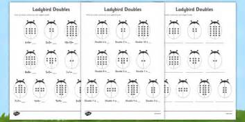 doubles to 20 ladybird activity sheet mixed up doubles 20