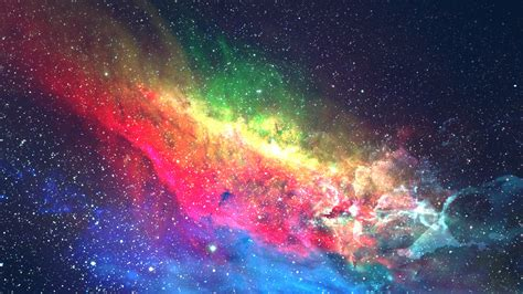 wallpaper colorful galaxy space
