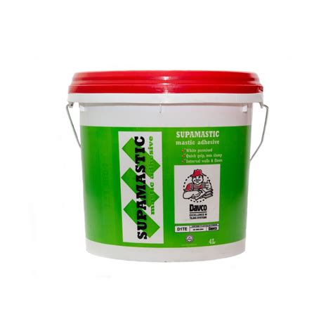 Tile Adhesive Remover Bunnings by Davco 4l Supamastic Tile Adhesive Bunnings Warehouse