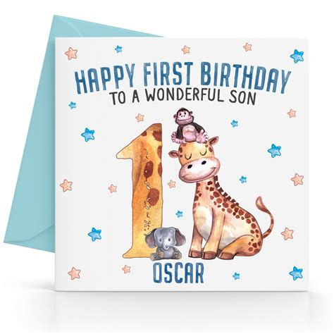 personalised boys  st birthday card son grandson