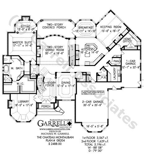 chateau montauban house plan estate size house plans