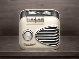 radio retro design brilliant collection of app icons design tickle