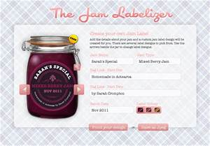 a nifty jam label generator how about orange With design my own labels
