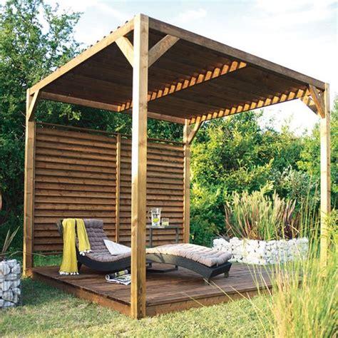 castorama chalet en bois pergola castorama pergola en bois avec toit pare soleil