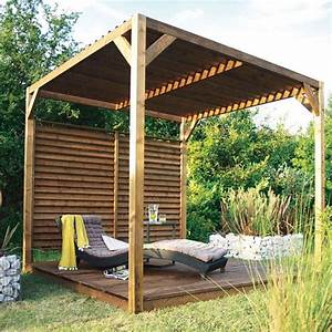 pergola castorama pergola en bois avec toit pare soleil With ordinary decoration de jardin exterieur 14 decoration salon maison bourgeoise