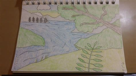 Easy Backgrounds To Draw 297 How To Draw Cool Easy Riverside Background