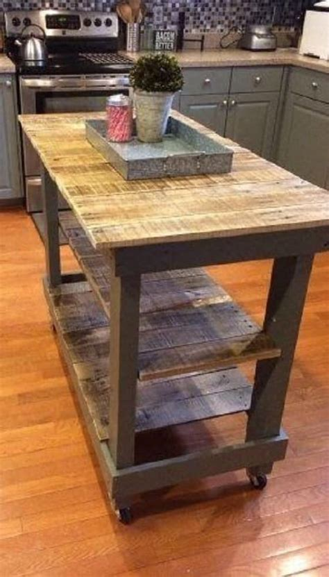 kitchen island made from pallets 15 creative gorgeous wood pallet kitchen island ideas 8198