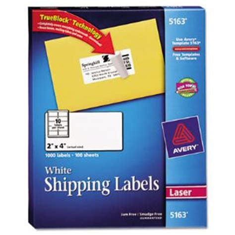 2x4 Shipping Label Template by Shipping Labels With Trueblock Technology 2 X 4 White