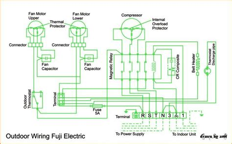 Wiring Diagram Cassette Fuji Electric Refrigeration