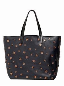 valentino laminated appliqué leather tote bag in