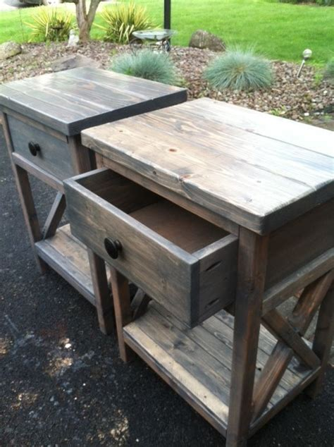 Rustic Nightstand Plans by White X Frame Nightstand Diy Projects