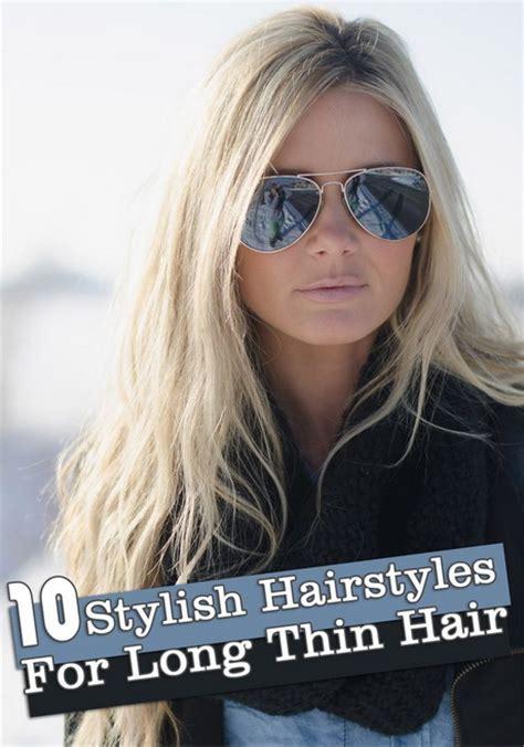 long hairstyles  thin hair