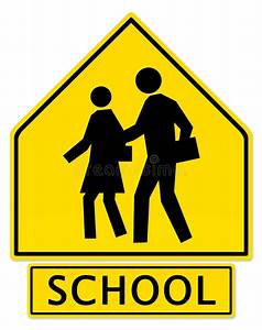 Slow Down! School Zone Ahead Stock Illustration ...
