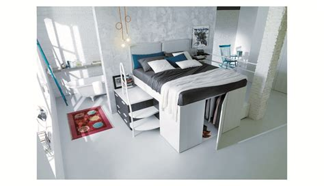 Bed With Mini Closet Underneath