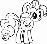 Pony Coloring Printable Colouring Poni Pinkie Pie sketch template