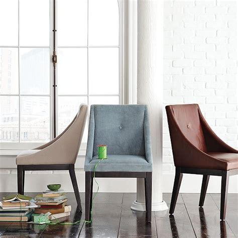curved upholstered chair west elm contemporary