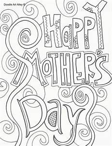 Mothers Day Coloring Pages - Doodle Art Alley