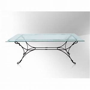 Table Verre Et Fer Forgé : table fer forg plateau verre table de lit ~ Teatrodelosmanantiales.com Idées de Décoration