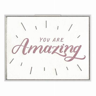 Amazing Card Letterpress Greeting Cards Congrats