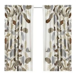 curtains with leaves