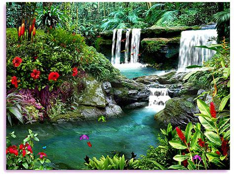 living waterfalls    screensaver animated