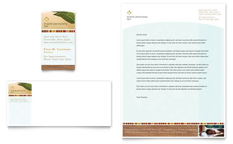business card size template pdf health spa business card letterhead template
