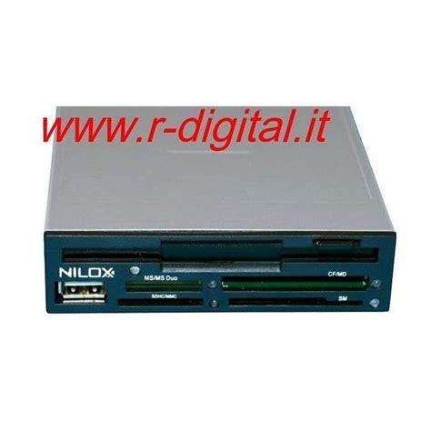 Porta Disk Interno - nilox floppy disk card reader porta usb 3 5 interno