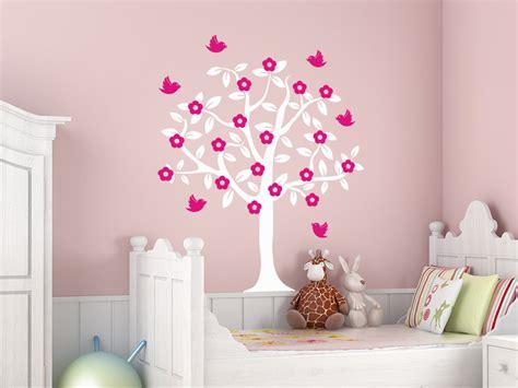 Wandtattoo Baum Mit Blüten Und Vögeln
