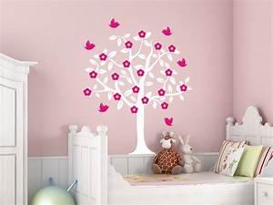 Baum Mit Blüten : wandtattoo baum mit bl ten und v geln wandtattoo de ~ Frokenaadalensverden.com Haus und Dekorationen