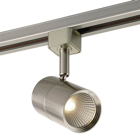 linear track lighting fixtures shop project source 1 light dimmable brushed nickel flat