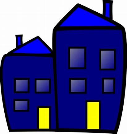 Building Cartoon Clip Clipart Vector Apartment Clker