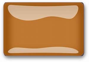 Burnt Orange Glossy Rectangle Button Clip Art at Clker.com ...