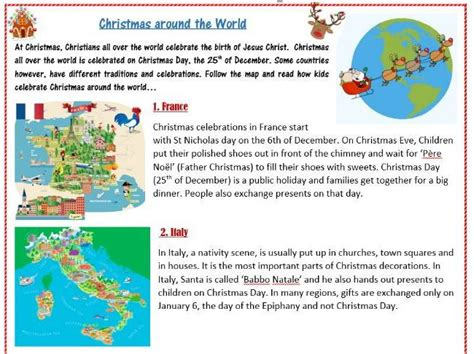 Christmas Traditions Around The World Worksheet