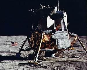 Image Of The Apollo 14 Lunar Module   Alsep Spacecraft
