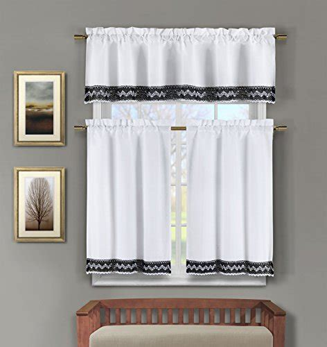 black  white kitchen curtains amazoncom
