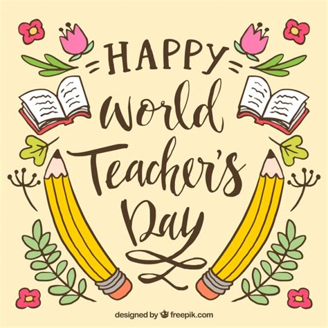 Happy Teacher's Day Vector  Free Download